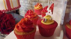 Aniversário Tema Bombeiro (menina) Torre de Cupcake