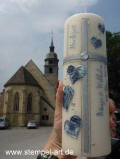 Die Traukerze zur Hochzeit…   StempelArt Pisa, Pillar Candles, Stampin Up, Tower, Travel, Candles, Wedding, Rook, Viajes