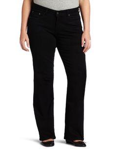 Levi's Women's Plus-Size 512 Boot Cut Jean, Black Denim