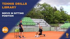 Top tennis drills: Serve in sitting position Tennis Videos, Sitting Positions, Drills, Basketball Court, Positivity, Sports, Top, Free, Hs Sports