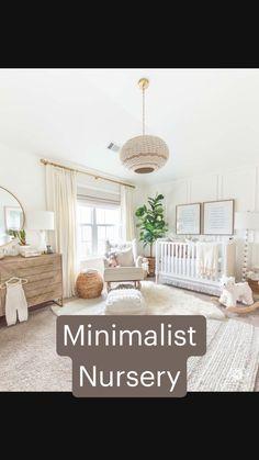 Baby Nursery Neutral, Baby Nursery Decor, Baby Decor, Boy Nursery Rugs, Accent Wall Nursery, Animal Theme Nursery, Nursery Room Ideas, Simple Baby Nursery, Calming Nursery