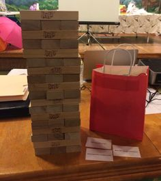 Played Jenga Giant at a play therapy training. When participants pulled a block, they responded to cards that had questions about APT. Prized were given to participants. Fun way to observe #playtherapyweek