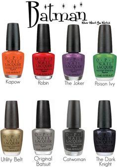 Opi nail polish inspired by The Batman Franchise