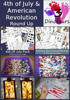4th of July & American Revolution Round up - 3Dinosaurs.com