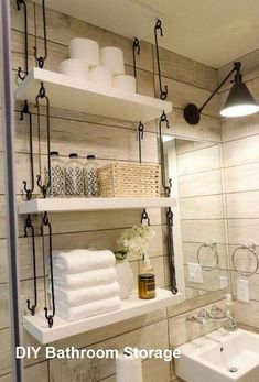 Bathroom sink storage ideas showers 22 ideas for 2019 Bathroom Sink Storage, Diy Bathroom Decor, Bathroom Ideas, Bathroom Designs, Bathroom Organization, Bedroom Storage, Bathroom Renovations, Organization Hacks, Bathroom Things