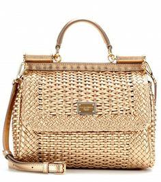Dolce & Gabbana - Mini Miss Sicily woven leather shoulder bag - mytheresa.com GmbH