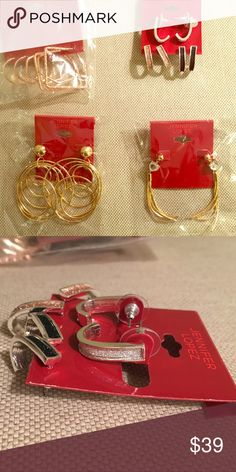 Jennifer Lopez Earring Set Brand new Jennifer Lopez earring set. Jennifer Lopez Jewelry Earrings