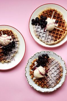 Quick Belgian Waffles | The Sugar Hit