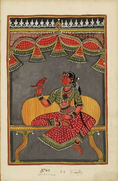 Draupadi - wife of the five Pandava brothers, heroes of the Mahabharata of Vyasa. c.1730-30, S.Andhra Pradesh