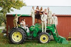 Wedding Party on a Tractor - Summer Street Photography