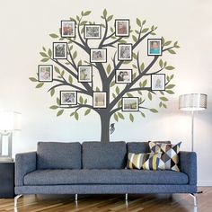 Wallums Wall Decor Large Family Tree Wall Decal Color: Brown / Lime Green