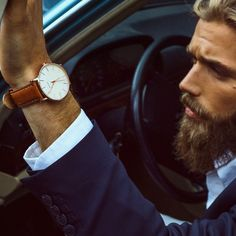 The Classic Slim Wristwatch Italian Calf Leather Strap - $185. Slim watch is my absolute favourite of all watches!