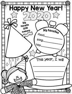 new years a little freebie set of posters for the new year! Take a snapshot of a moment in time and have students fill in their favorites and plans for the new year. Enjoy and have a Happy New Year! :)This fits in perfectly with my year-long scrapbook. New Years Activities, Holiday Activities, Writing Activities, Classroom Activities, Teaching Resources, Classroom Ideas, Happy New Year 2019, New Year 2020, New Year Art