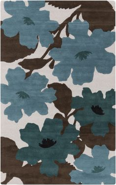 RugStudio presents Surya Organic Modern Omr-1030 Teal Hand-Tufted, Good Quality Area Rug