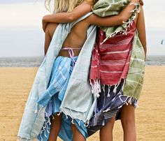 Knotty Turkish cotton towels. Gorgeous look and very practical too.