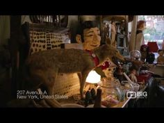 Liked on YouTube: Obscura Antiques and Oddities Antique Store New York for Quirky Furniture and Taxidermy