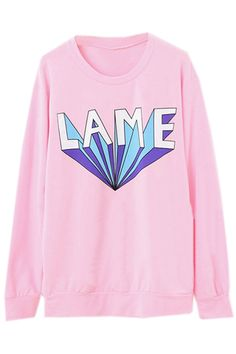 ROMWE | LAME Printed Pink Pullover, The Latest Street Fashion?pinterest=contessafaust