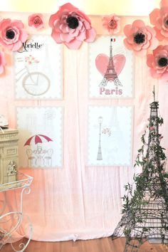 Photo backdrop from A Day in Paris Birthday Party on Kara's Party Ideas | KarasPartyIdeas.com (4)