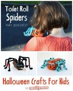 Halloween Crafts For Kids – toilet roll spiders
