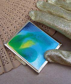 Vintage powder compact purse compact enamel by ElrondsEmporium