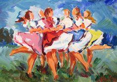 Dancers by Mikulas Rogovsky
