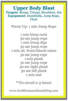 At home upper body workout