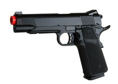 KJW 1911 Tactical HI-CAPA Gas / CO2 Blowback Full Metal Custom Airspft Pistol Gun (Black) by KJW. $126.99. This is KJW's newest release with the best features you'll ever look for on an pistol. Its has the power, light trigger pull, accuracy, reliability (full metal and CO2 ready), hi-capa (30+1 rd capacity), railed frame, Tanio Koba upgraded grip and fully reinforced internals and external parts. Besides performance, the look and feel is rated top notch making this pisto...