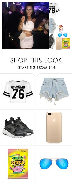 """bored, single af-Kylie"" by the-crazy-anons ❤ liked on Polyvore featuring Boohoo, Chicnova Fashion, NIKE and Ray-Ban"