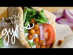 Vegetarian Roasted Chickpea Gyros