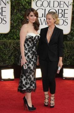 Tina Fey & Amy Poehler at the Golden Globes | Moms on the Red Carpet - Parenting.com