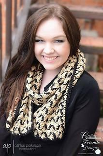 Ribbon Candy V Scarf Crochet Pattern for fall and winter by Crafting Friends Designs Free on blog $2.95 of Etsy