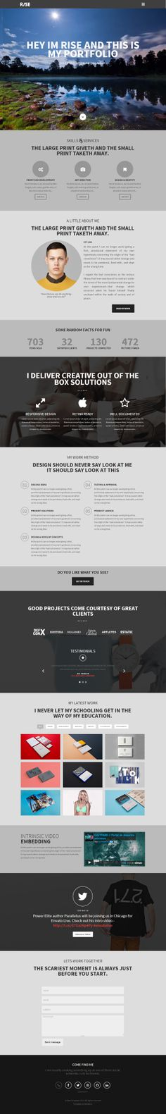 Rise is Premium Responsive Parallax Drupal Multipurpose Theme. Retina Ready. One Page. Video Background. Isotope Portfolio.