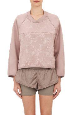 adidas x Stella McCartney Floral-Embossed Neoprene Sweatshirt