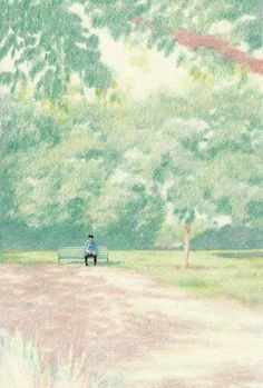 Impressionistic Scenes by Lee Kyutae Art And Illustration, Illustrations And Posters, Landscape Sketch, Landscape Paintings, Watercolor Paintings, Pretty Art, Cute Art, Cute Wallpaper Backgrounds, Wallpapers
