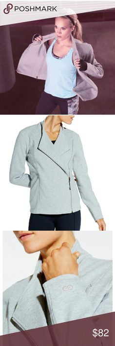 CALIA Plus Size Knit Moto Jacket Infuse your to/from fitness apparel with sleek style when you wear the CALIA by Carrie Underwood Women's Knit Moto Jacket. To ensure you feel fresh and cozy when you're cooling down after class, this full-zip knit jacket features moisture-wicking and antimicrobial technologies. For extra protection from chill, the CALIA Moto Jacket has a double zip closure. CALIA by Carrie Underwood Jackets & Coats