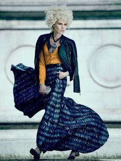 "nice Elle Brasil Junho 2013 | Shirley Mallmann em ""Ideia Fixa"" por Fabio Bartelt   [Editorial]could do this in silk painting"