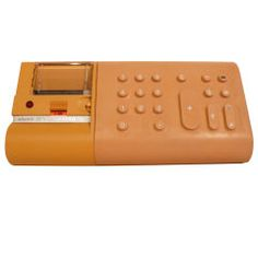 1973 calculator, introduced a rubberized keypad to the world. By Mario Bellini.