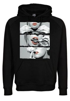 Sexy Red Lips Rolling Cannabis Marijuana Sweatshirt Hoodie in Black for Adults on Etsy, $28.99  www.WeedStatus.com