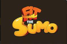 Fit the sumo game logo Bg Design, Game Logo Design, Icon Design, Game Font, Game Ui, 2 Logo, Symbol Logo, Cartoon Logo, Game Concept