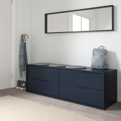Ikea Drawers, Ikea Dresser, Dresser Drawers, Storage Drawers, Black Chest Of Drawers, Low Dresser, Storage Benches, Shoe Storage, Design Ikea
