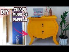 DIY: Do lixo ao luxo Criado de papelão  Morgana Alves - YouTube Diy Cardboard Furniture, Projects To Try, Paper, Youtube, Home Decor, Anime, Vintage, Cardboard Box Crafts, Paper Roll Crafts