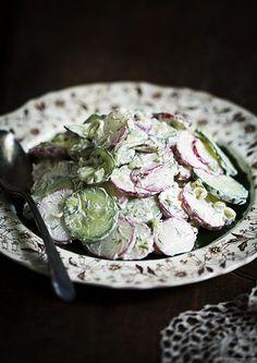 Russian Cucumber & Radish Salad