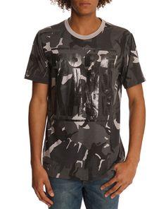Falko Military Print Grey T-Shirt DIESEL