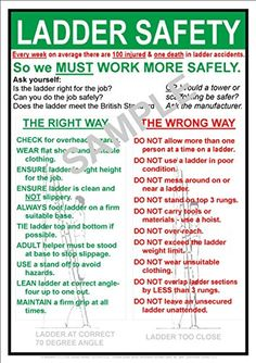 Compliance Posters UK Occupational Health and Safety (OHS) LADDER SAFETY AT WORK NOTICE - A5 SIZE POSTER SIGN Occupational Health and Safty Notice - Poster (OHS) Ladder Safety instructions. Includes proper advice along with simple do and dont advise for safer use. Ideal for the work place reminding staff to http://www.comparestoreprices.co.uk/december-2016-4/compliance-posters-uk-occupational-health-and-safety-ohs-ladder-safety-at-work-notice--a5-size-poster-sign.asp