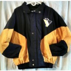 Pittsburgh Penguins Hockey NHL Stanley Cup fan starter winter jacket size Large Listing in the Outdoor,Men's Clothing,Clothes, Shoes, Accessories Category on eBid United States   156516846