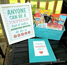 Father's Day Printables and Gift Basket Idea