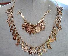 14k Kewpie Charm Bracelet & Necklace ~ $3,600.00