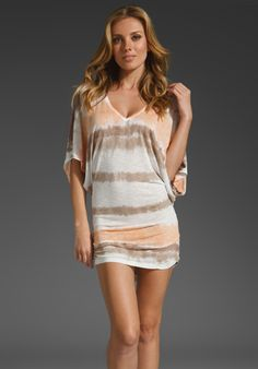 YOUNG, FABULOUS & BROKE Laguna Stripe Trish Dress in Apricot at Revolve Clothing - Free Shipping!