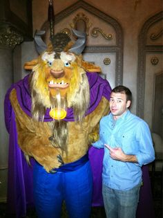 Lance was at Fantasyland with this guy!