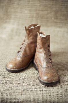 Antique Leather Button Up Shoes